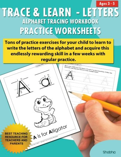Trace & Learn Letters Alphabet Tracing Workbook Practice Worksheets: Daily Practice Guide for Pre-K Children (Volume (Alphabet Worksheets Children)