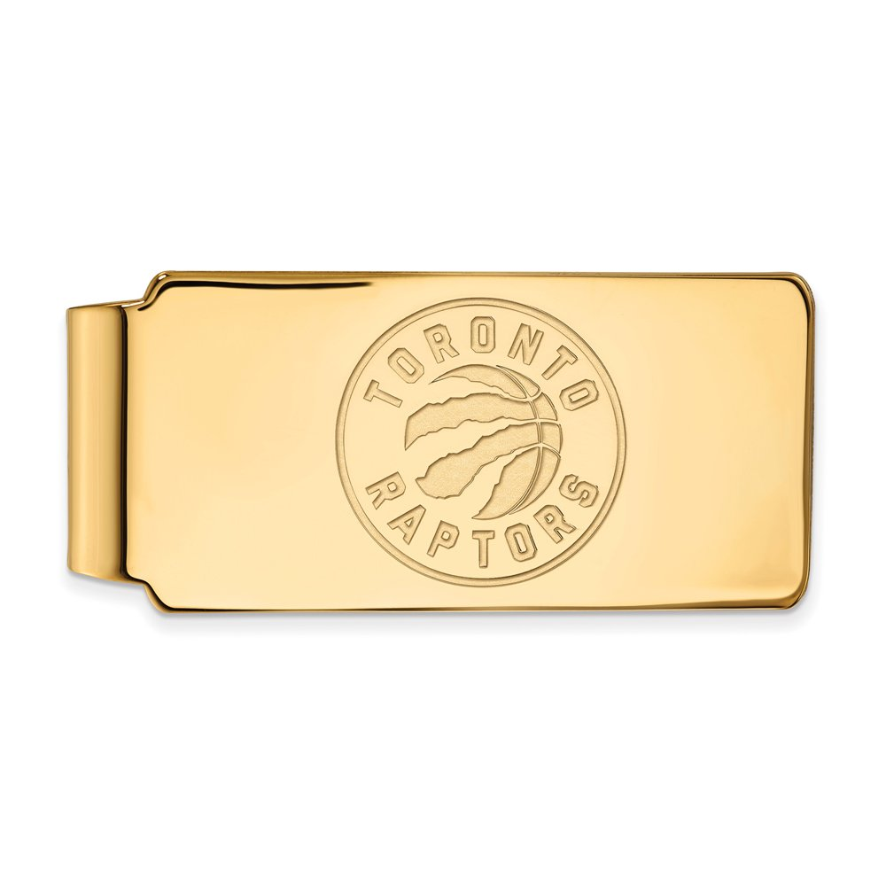 NBA Toronto Raptors Money Clip in 14K Yellow Gold by LogoArt