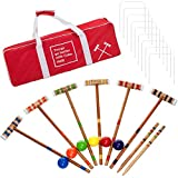 Officially Licensed Coca Cola Coke Croquet Set with Deluxe Carrying Case - Up to 6 Players!