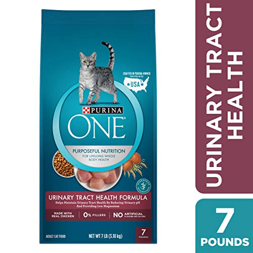 Purina ONE Urinary Tract Health Dry Cat Food; Urinary Tract Health Formula - 7 lb. Bag (Best Foods For Bladder Health)