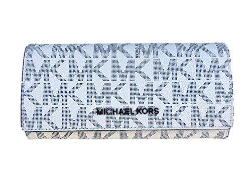 Michael Kors Jet Set Travel Carryall Wallet in Navy/White -