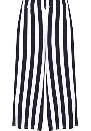 Culottes Dames Striped 4 Longueur 58 Fashions Pantalon Navy Elastiqu Islander Femmes 3 Stretch 36 Imprim EU xwBU08f1q