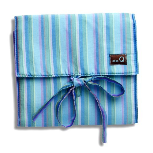 della Q The Que Knitting Case for Standard-Size Circular Knitting Needles; 023 Ocean Stripes 155-1-023 by della Q