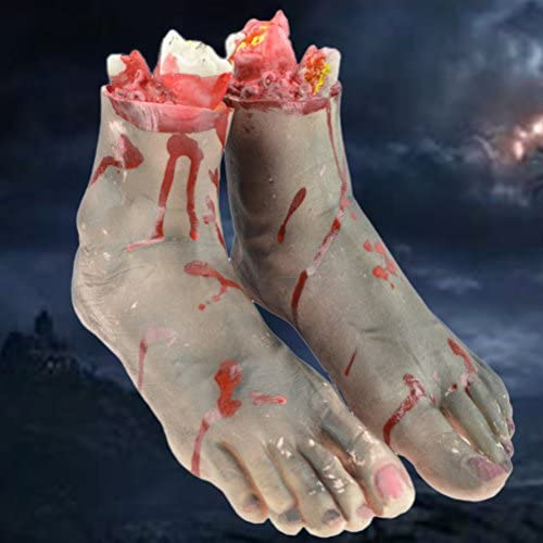 Bloody FOOT Prop Halloween Gory FOOT Decor Cut off FOOT