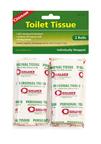 - Coghlan's Packable Camp Toilet Tissue, 2-Rolls