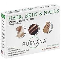 Wellgenix Purvana Hair, Skin, And Nails Vitamin Softgels For High Absorption - Double...