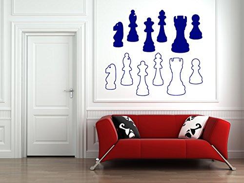 Wall Vinyl Sticker Decals Mural Room Design Pattern Art Chess Chessmen Table Game bo1545