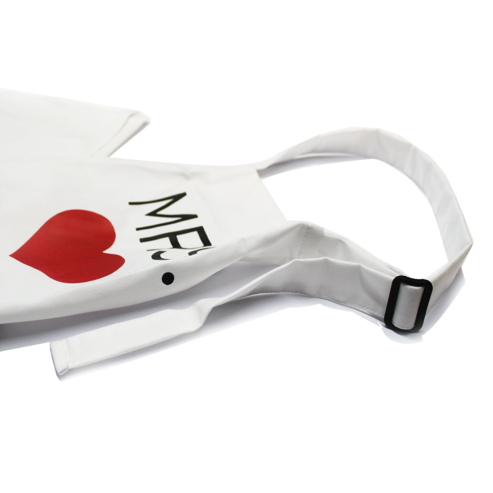 KMCH Mr. and Mrs.2018 Couples Kitchen Aprons Funny Cooking Bibs Gifts For Wedding Newlyweds His and Hers Sets (2 Pieces a Set) by KMCH (Image #3)