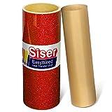 Siser Glitter Red Easyweed Heat Transfer Craft Vinyl Roll (50ft x 10'' Bulk w/ Teflon roll)