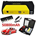 400A Peak 50800 mAh Car Jump Starter,Multi-Function Car Power Bank Portable Emergency Battery Pack Auto Battery Booster with 2 USB Charging Ports LED SOS Flashlight