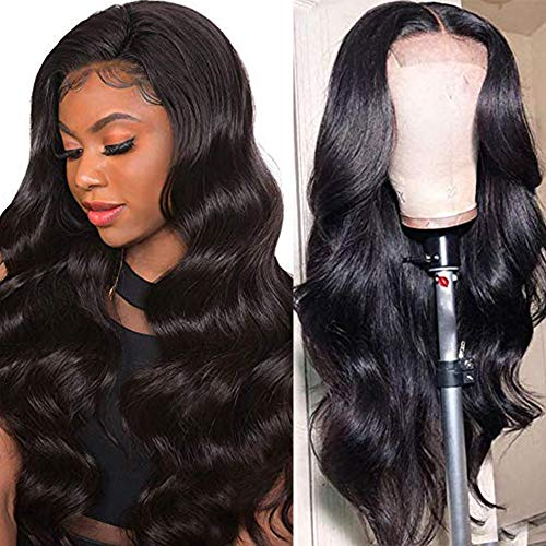 Ucrown Hair Lace Front Wigs Brazilian Body Wave Human Hair Wigs For Black Women 150% Density Pre Plucked with Baby Hair…