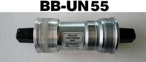 Caja de Pedalier Shimano UN55 Eje Cuadrado 110mm: Amazon.es ...