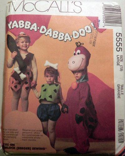 [McCalls 5555 Flintstones Pebbles Bambam Dino Costume Sewing Pattern Large 7/8] (The Flintstones Halloween)