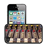 Luxlady Premium Apple iPhone 4 iPhone 4S Aluminium Snap Case Sound mixing console Audio mixer mixing board fader and knobs photography IMAGE 24670583