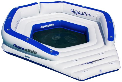 Aquaglide Malibu Lounge, White, 12L x 11.5W x 2.5H-Inch, 1500 -Pounds