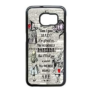 Samsung Galaxy Note5 Edge/S6 Edge Plus funda Negro [PC dura del caso + HD Pattern] Alicia en el país A través de la serie Glass® Mirar [Numeración: JJJJDHKOS6449]