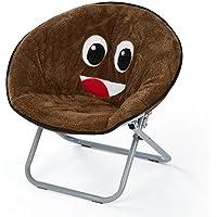 Emoji Pals NK656913 Poop Kids Saucer Chair