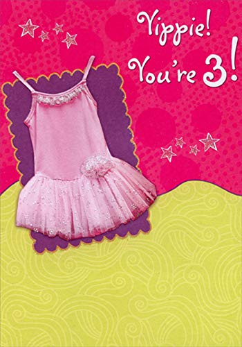 Designer Greetings Pink Tutu Age 3 / 3rd Birthday Card for ()