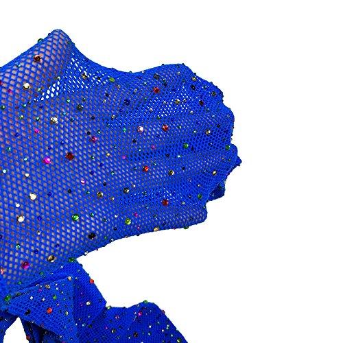 Sexy Mesh Stockings Colorful Sparkle Crystal Rhinestone Fishnets