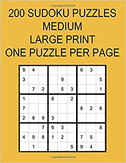 photograph relating to Sudoku Printable 4 Per Page identify 200 SUDOKU PUZZLES MEDIUM: Significant PRINT One particular PUZZLE For each Site
