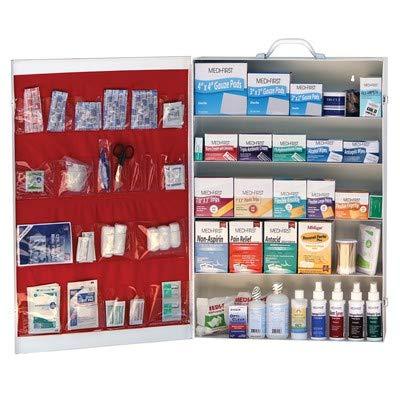 Medi-First 5-Shelf 1,539-Piece Industrial Steel First Aid Kit Cabinet