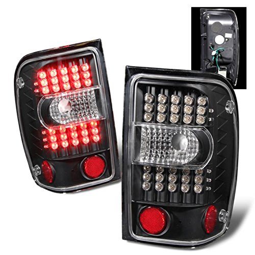 SPPC Black LED Tail Lights G2 Assembly Set For Ford Ranger - (Pair) Driver Left and Passenger Right Side Replacement