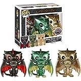 Funko - Figurine Game of Thrones - Pack de 3 Metallic Dragons Eclusive Pop 10cm - 0849803072650
