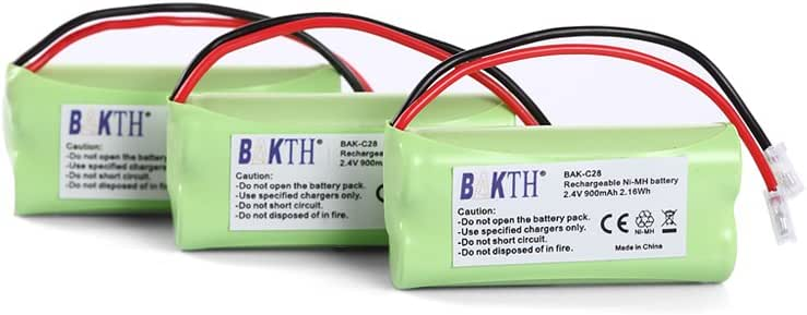 BAKTH 900mAh NiMH 3X Batería del Teléfono (Acumulador) para Siemens Gigaset A-Serie A120 A140 A160 Universum CL15 SL15 V30145-K1310-X359 V30145-K1310-X383 (3 Piezas): Amazon.es: Electrónica
