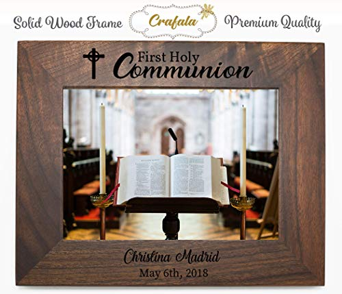 First holy communion custom Frame, Personalized Solid Wood Frame, Engraved Frame, Photo Frame, Picture Frame, Wall Frame