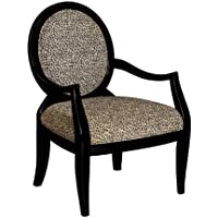Powell Leopard Oval Back Accent Chair, 18-3/4-Inch