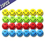Best unknown Whiteboard Markers - SWES Smiley Magnets for Whiteboard/Refrigerator , 40mm 24pcs/Tub Review