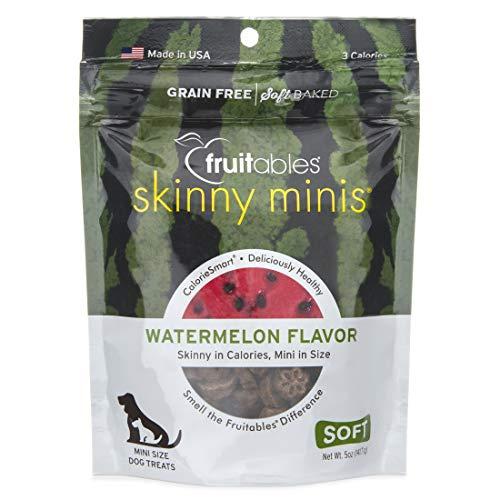 - Fruitables Skinny Minis Grain Free Soft Dog Treats Watermelon Flavor 5 Oz