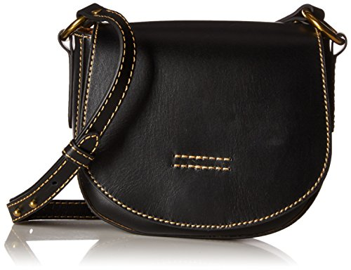 FRYE Harness Small Saddle, Black by FRYE