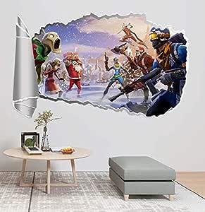ملصق حائط لعبة فورتنايت لغرفة المعيشة وغرفة النوم ملصق حائط فورتنايت زومبي وحش ملصق حائط خلفية تلفزيون ملصق حائط لغرفة الأولاد ملصق حائط فورتنايت