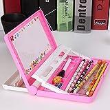 Jiada™ Utility Book Shelf Pencil Box + Drawing Board (Assorted Colours)