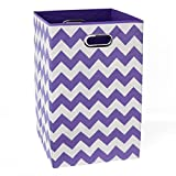 Modern Littles Laundry Basket Color Pop Chevron, Purple