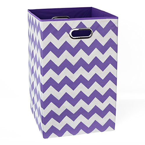 Modern Littles Laundry Bin, Color Pop Purple Chevron by Modern Littles