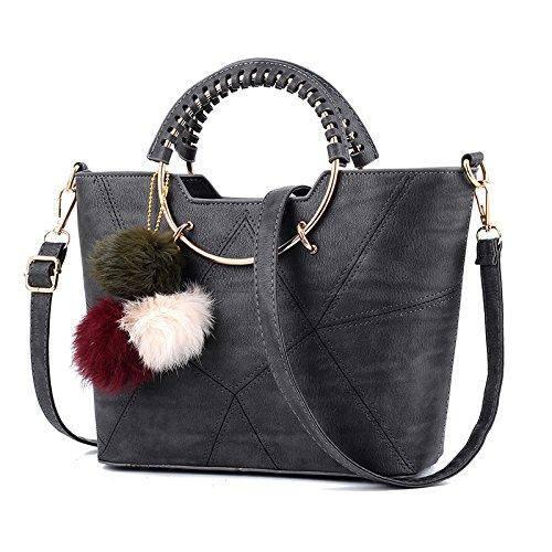 New Fashion Grigio Bag Donna All Match Shoulder Girls Leisure Bag Sprnb scuro Nero Messenger Summer Personality Epa6IqxXn