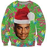KSJK Unisex Funny Print Ugly Christmas Sweater Jumper 015 M