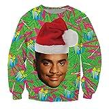 KSJK Unisex Funny Print Ugly Christmas Sweater Jumper 015 L