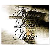 "Pixsona Faith Love Hope Cross Tapestry - 88 x 104"" (88''x104'')"