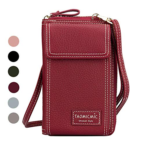 Cyber Sale Monday Deals Women Purse Leather Cellphone Holster Wallet Case Handbag Clutch Phone Pockets Small Crossbody Shoulder Bag Pouch for iPhone 11 Pro 8 Plus Xs Max X Xr 7/6 Plus Samsung (Holster Shoulder For Samsung S5)