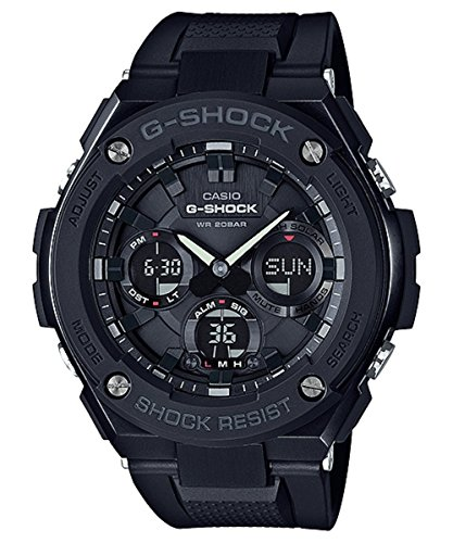 Casio Men's 'G Shock' Quartz Stainless Steel and Resin Casual Watch, Color:Black (Model: GST-S100G-1BCR) -