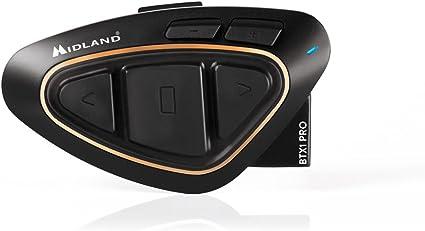 Midland BTX1 Pro - Intercomunicador Moto, Color Negro: Amazon.es: Electrónica