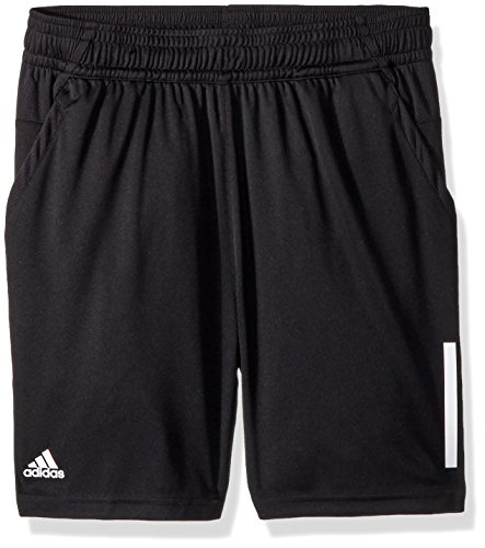 adidas Youth Tennis Boys 3-Stripes Club Short, Black, Large