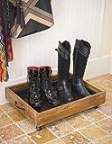 Gardener's Supply Company Wooden Boot Tray, Small