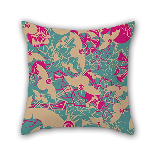 PILLO Colorful Geometry Throw Pillow Covers 16 X 16 Inches / 40 By 40 Cm Gift Or Decor For Outdoor,lounge,deck Chair,couples,him,husband - Two (Hat Jester Deluxe Assorted)