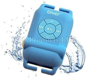 Diver (TM) Waterproof MP3 Player. 4 GB. Kit Includes Waterproof Earphones. (Blue)