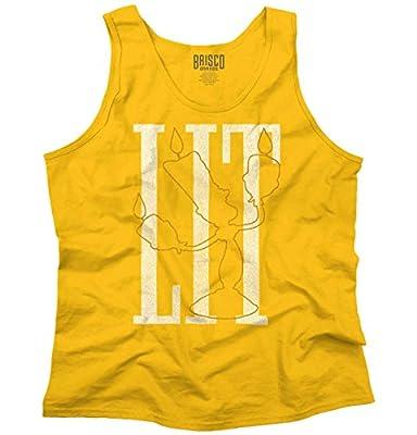 Brisco Brands LIT Lumiere Disney Shirt   Beauty Beast Funny Gift Idea Belle Tank Top Shirt