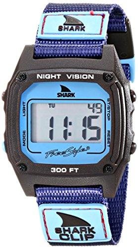 Freestyle Unisex 10019183 Shark Clip Digital Display Japanese Quartz Purple Watch
